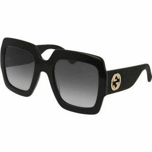 Gucci Oversized Sunglasses W/Grey Gradient Lens